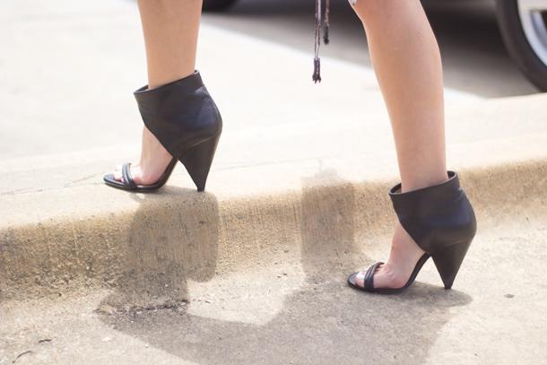 Iro Black Booties Sandals