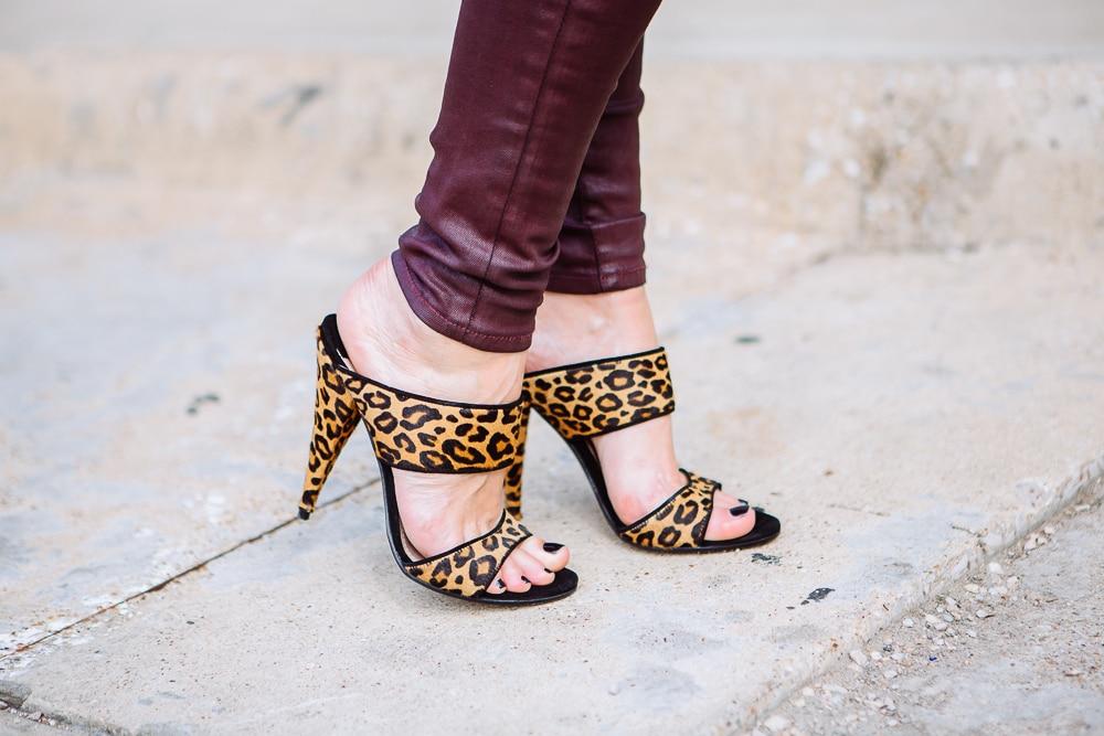 Burgundy leather pants 8