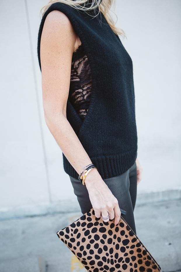 Black Sleeveless sweater 11