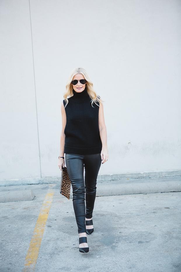 Black Sleeveless sweater 2