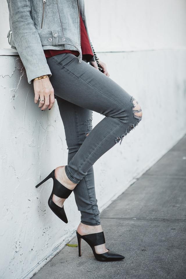 Iro gray leather jacket 1