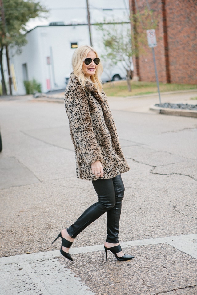 nasty gal leopard coat 1