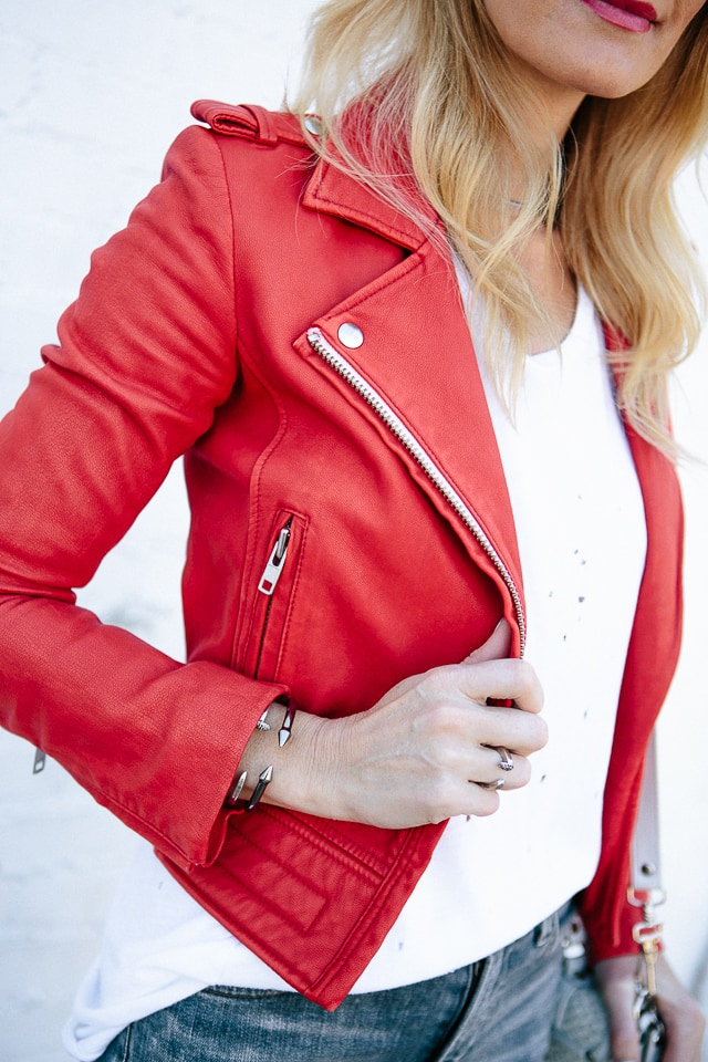 iro red leather jacket 4