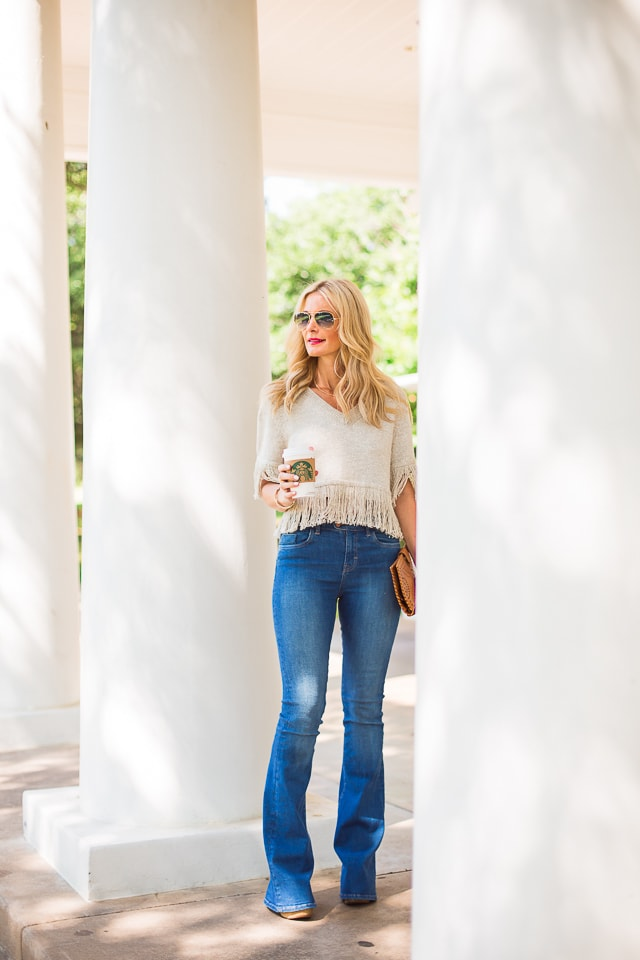 MIH high rise flare jeans 1