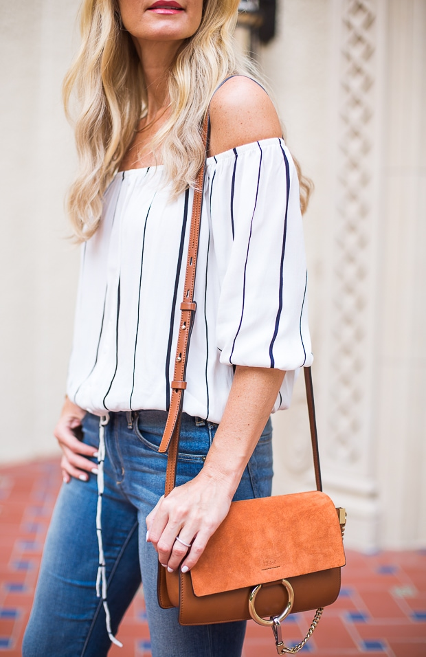 faithfull brand off the shoulder top 3