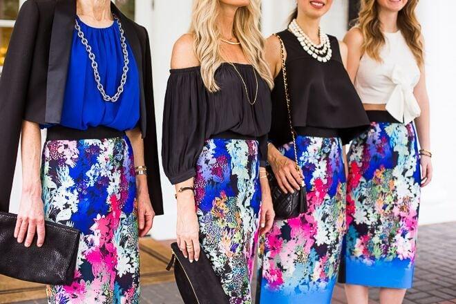 floral pencil skirt 10