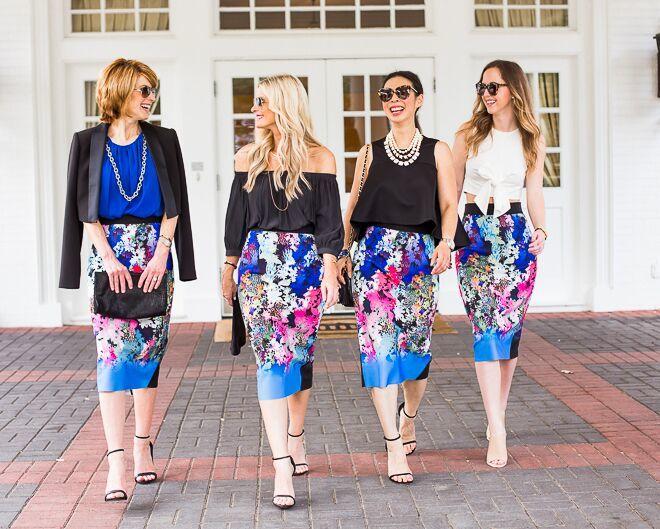 floral pencil skirt 12
