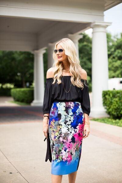 floral pencil skirt 3