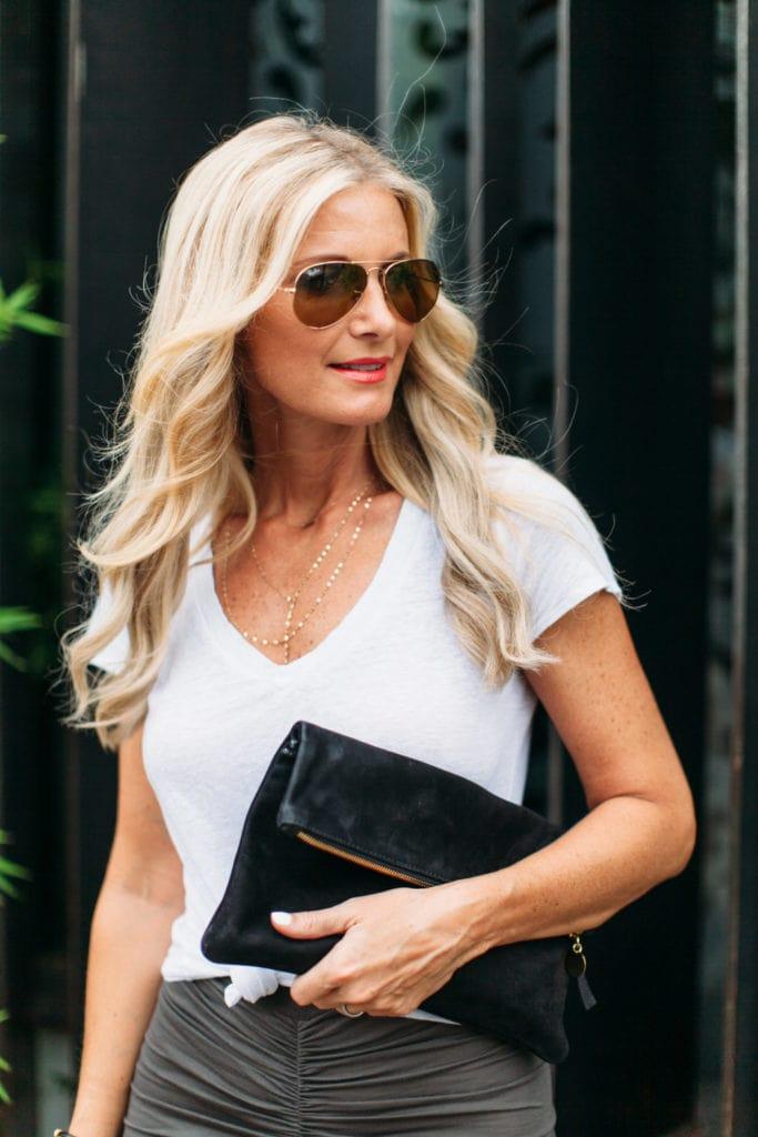 gray maxi skirt 1 dallas fashion blogger 2