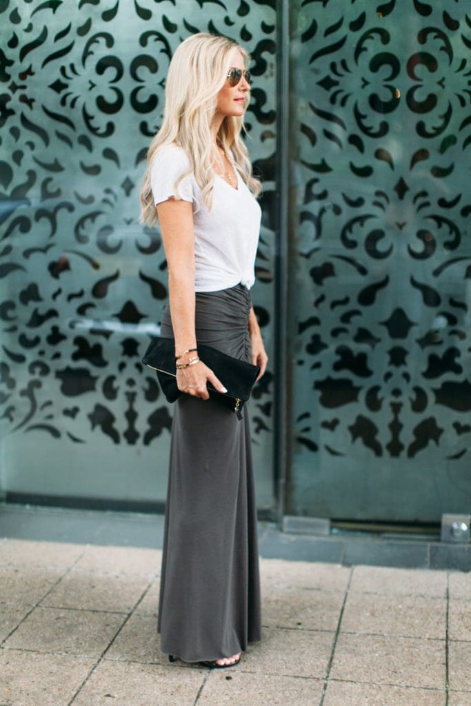 gray maxi skirt 1 dallas fashion blogger 5