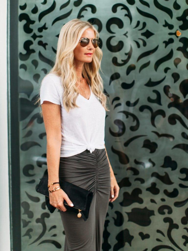 gray maxi skirt 1 dallas fashion blogger 6