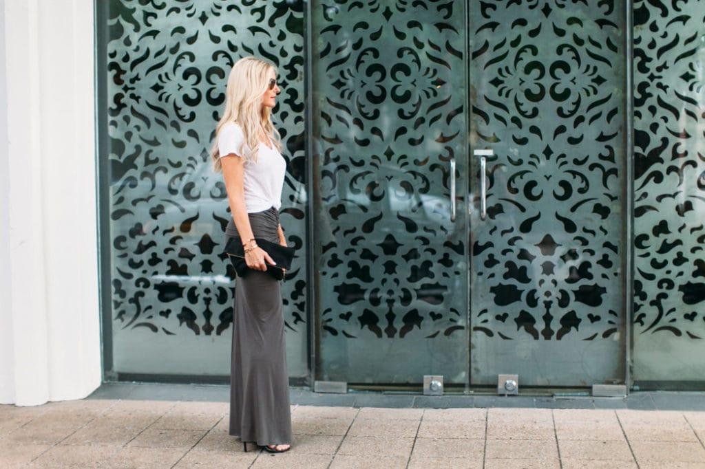 gray maxi skirt 1 dallas fashion blogger 7