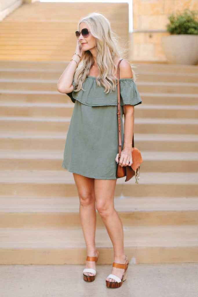 topshop off the shoulder dress 2