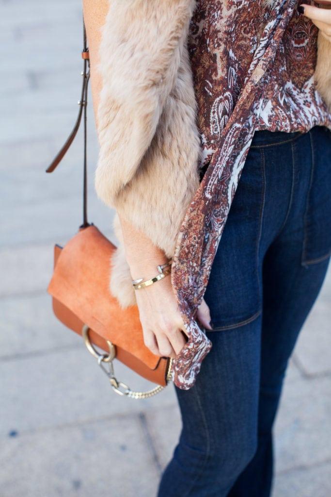 Camel fur vest 1