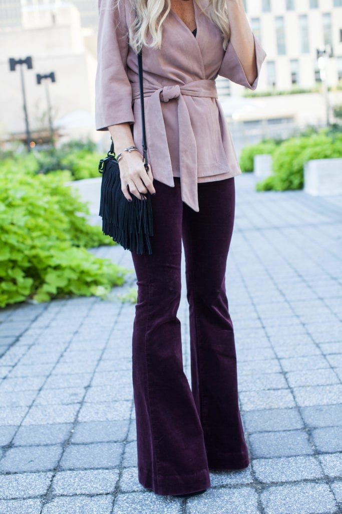 Intermix pink suede jacket 2