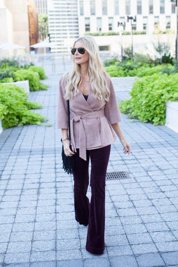 Intermix pink suede jacket 3