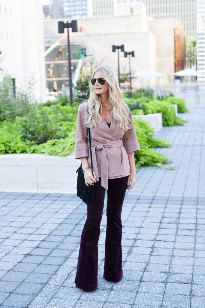 Intermix pink suede jacket 4
