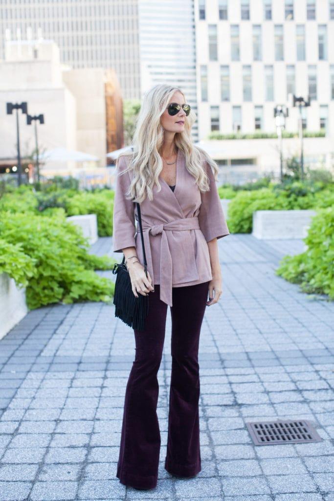 Intermix pink suede jacket 5