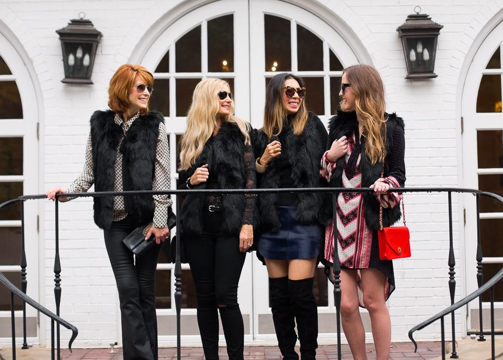 topshop black faux fur vest 8