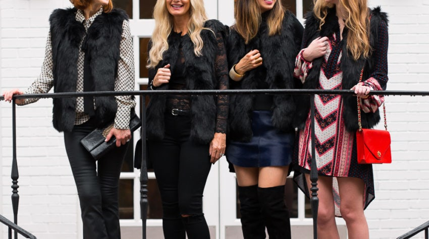 CHIC AT EVERY AGE FEATURING THE FAUX FUR VEST