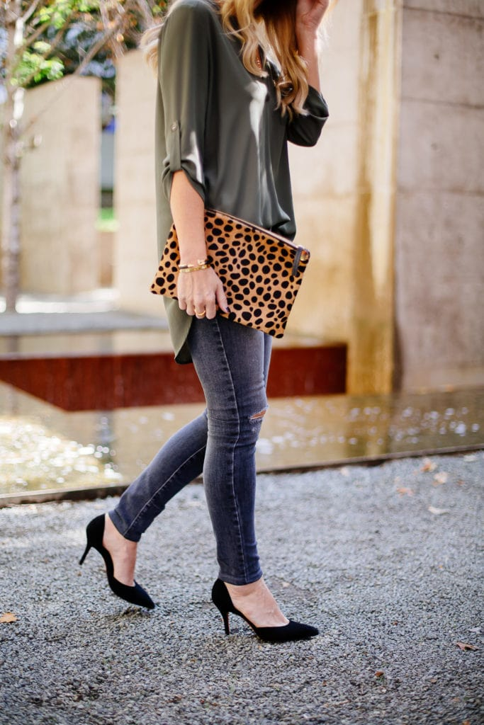 topshop green blouse 2