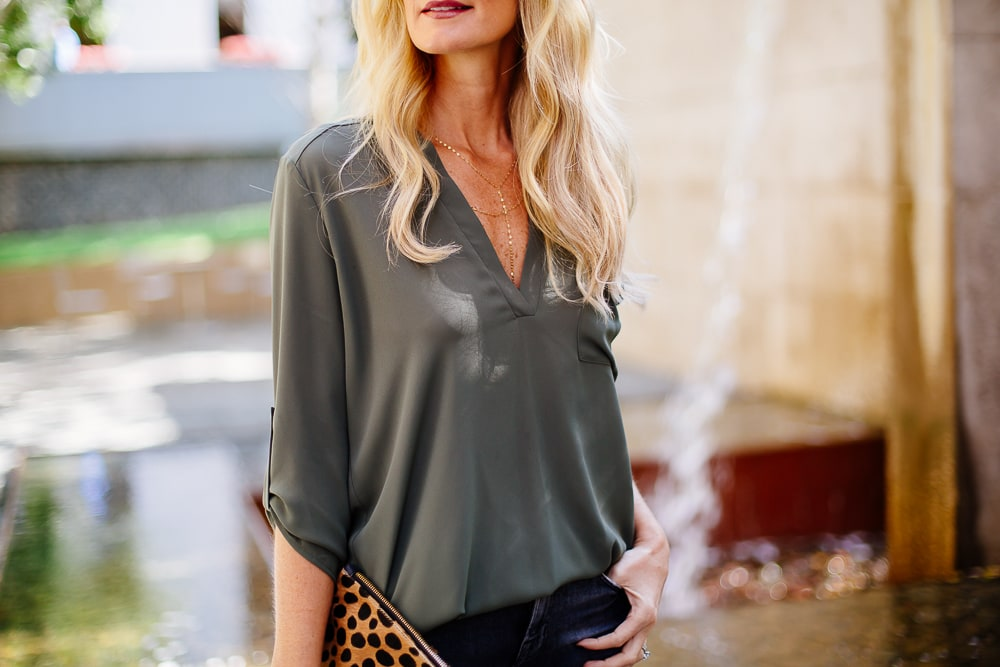 topshop green blouse 3
