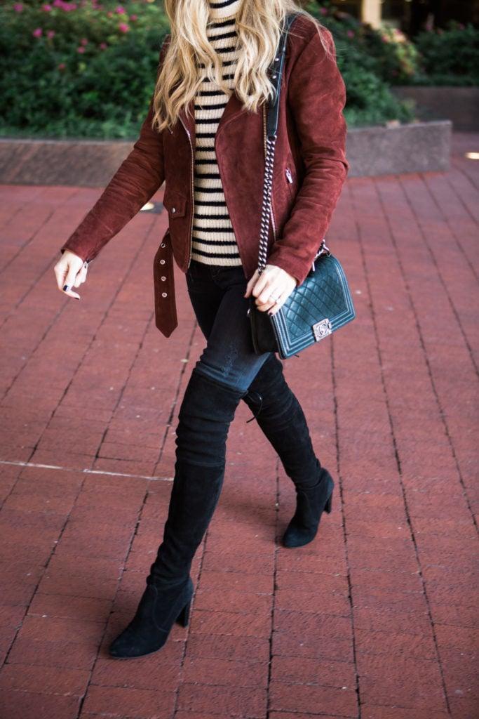 veda burgundy suede jacket 4
