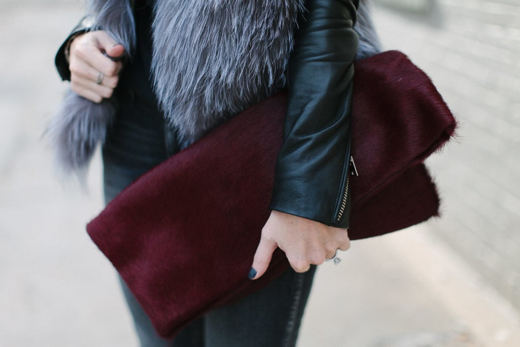 Allison Mitchell burgundy clutch 4
