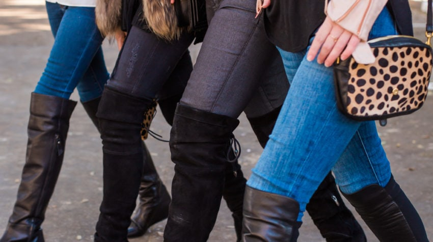 CHIC AT EVERY AGE FEATURING OVER THE KNEE BOOTS