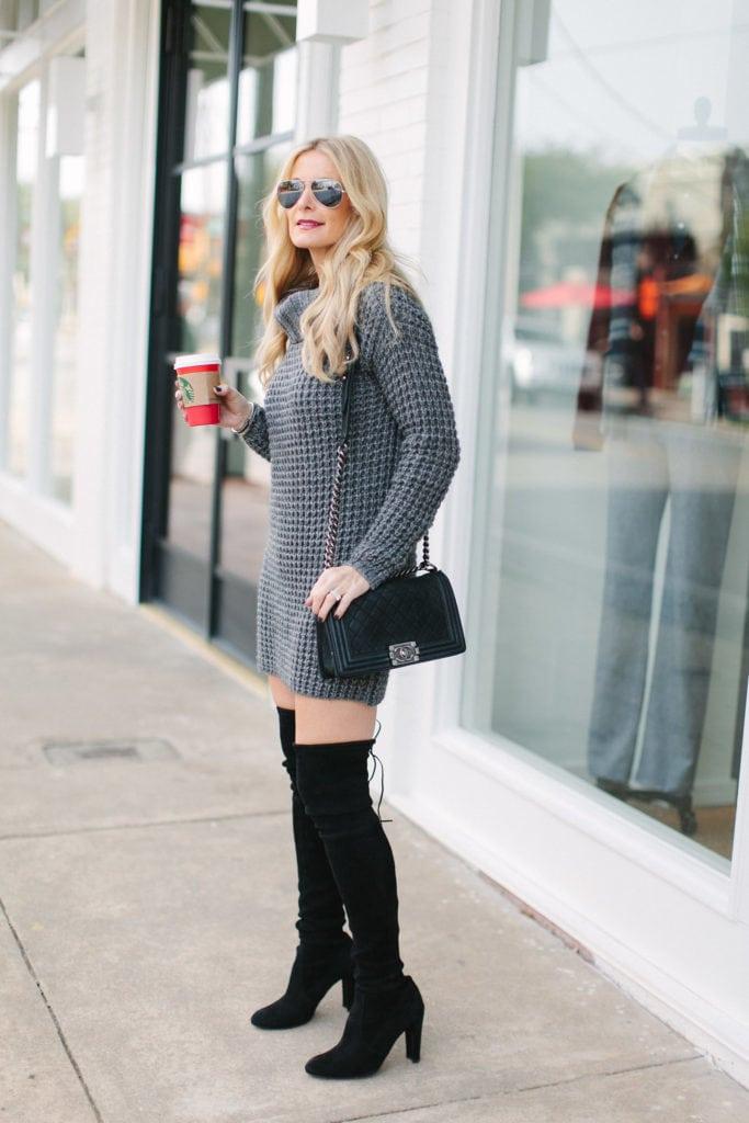 gray sweater dress 1