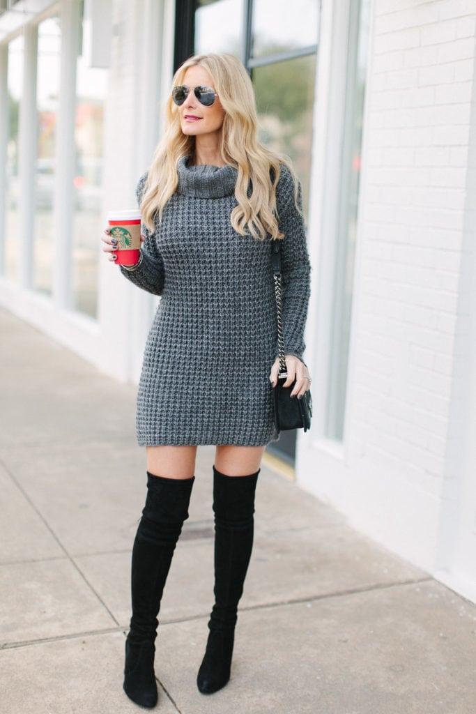 gray sweater dress 2