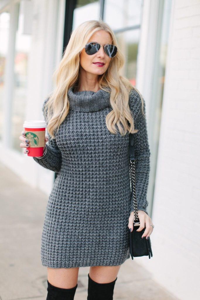 gray sweater dress 3