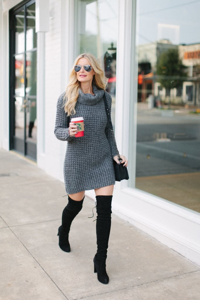 gray sweater dress 4