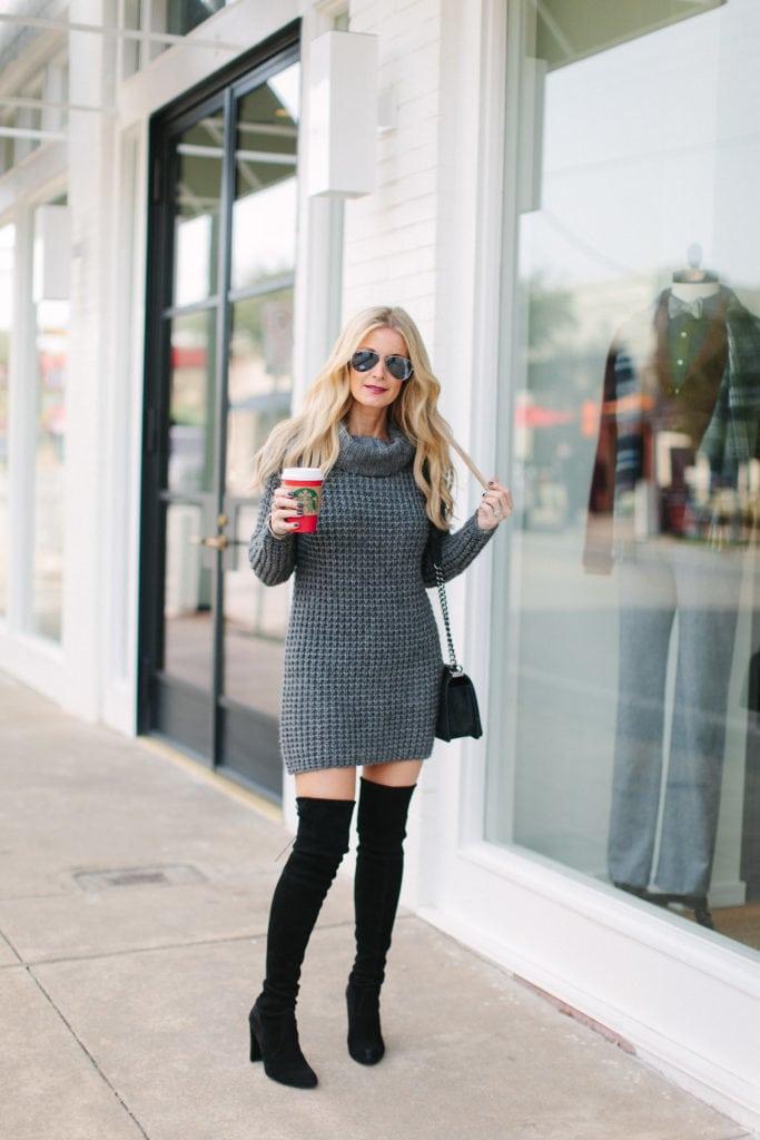 gray sweater dress 5