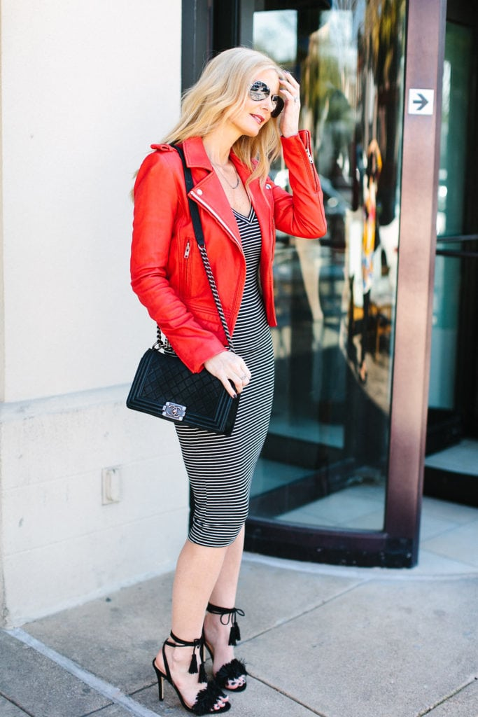 Iro red leather jacket