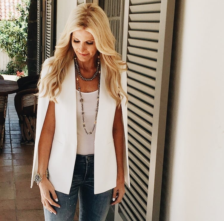 BCBG White Cape Blazer