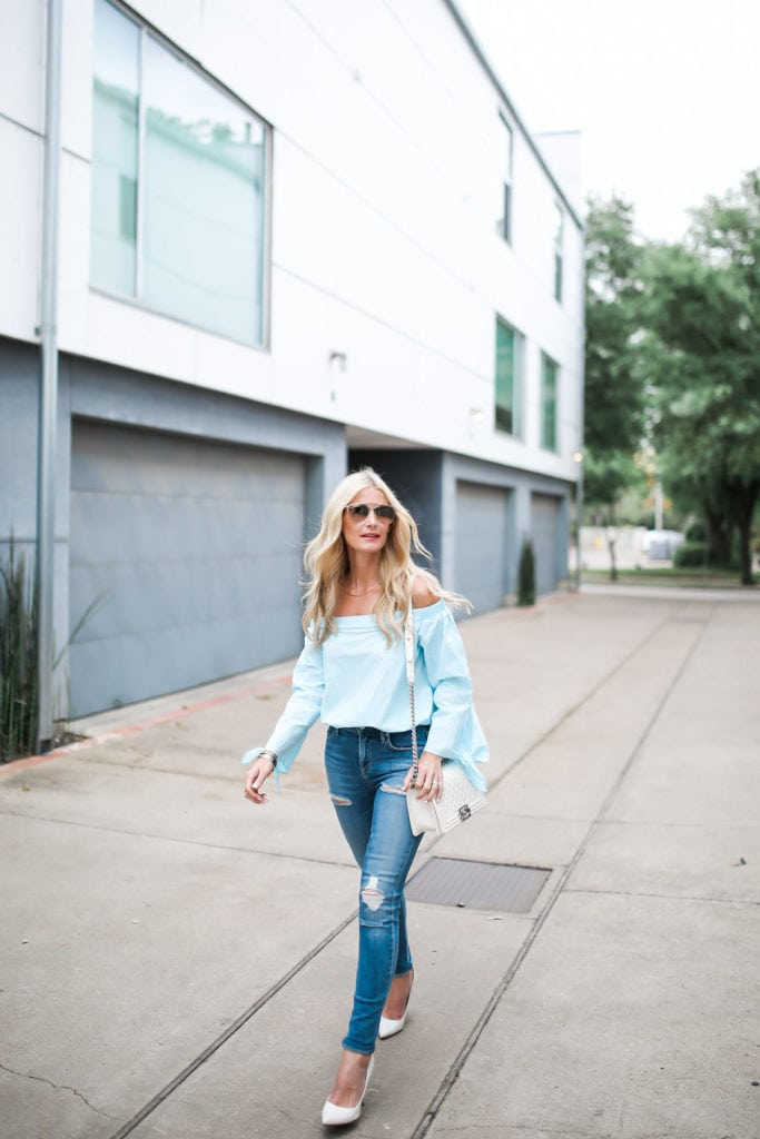 Shein Off the Shoulder top 1