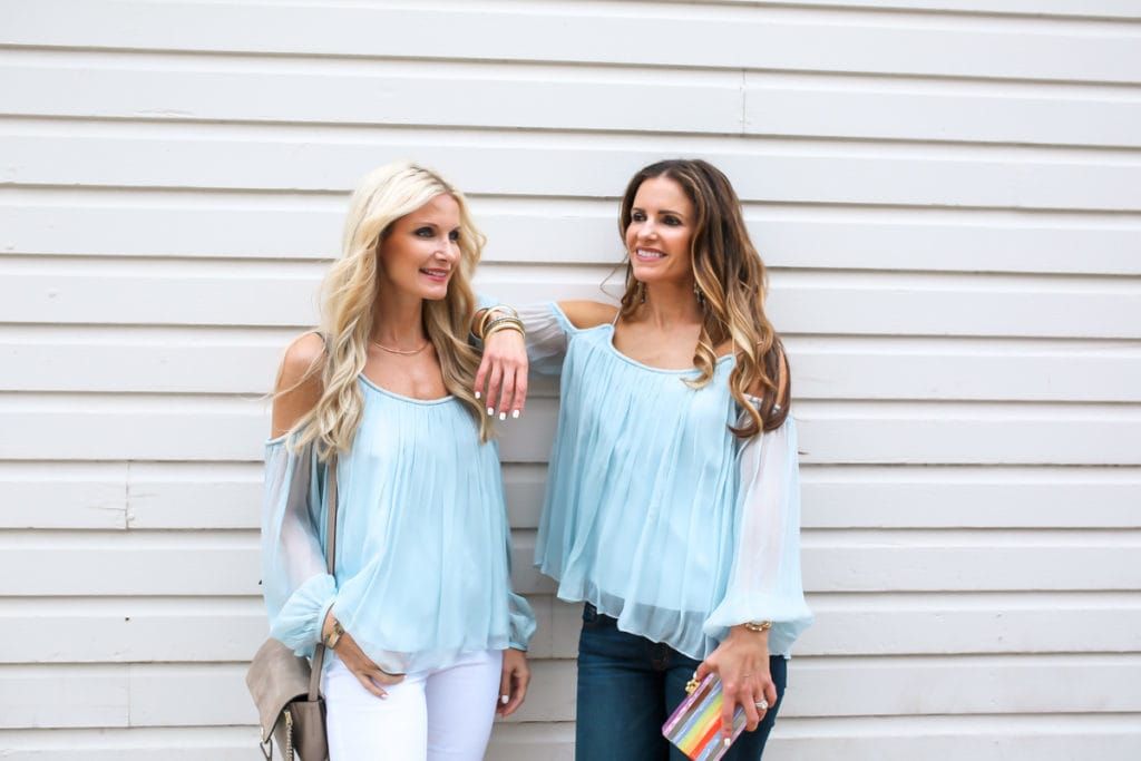 Elizabeth and James Cold Shoulder Top