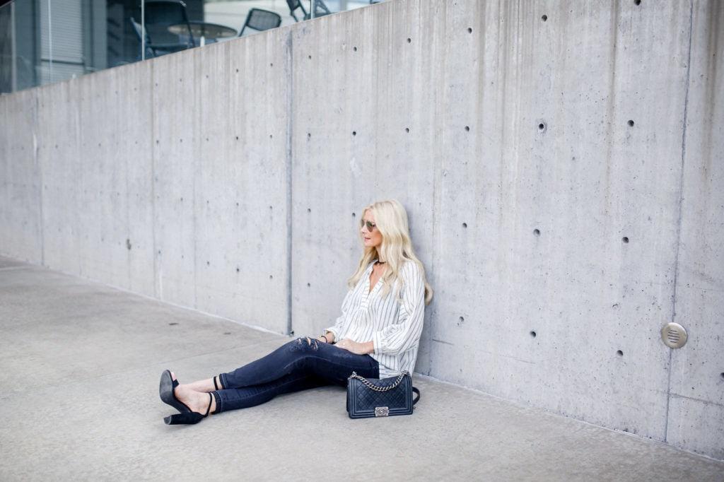 Striped Boho Top, Heather Anderson, Dallas Fashion Blogger