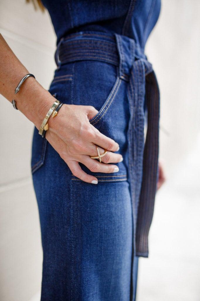 Dallas Style Blogger, Seven Denim Jumpsuit, Wide-leg Denim Jumpsuit