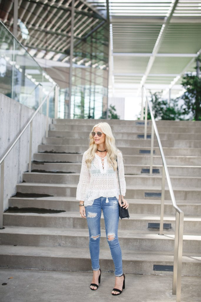 Storets White Lace Top