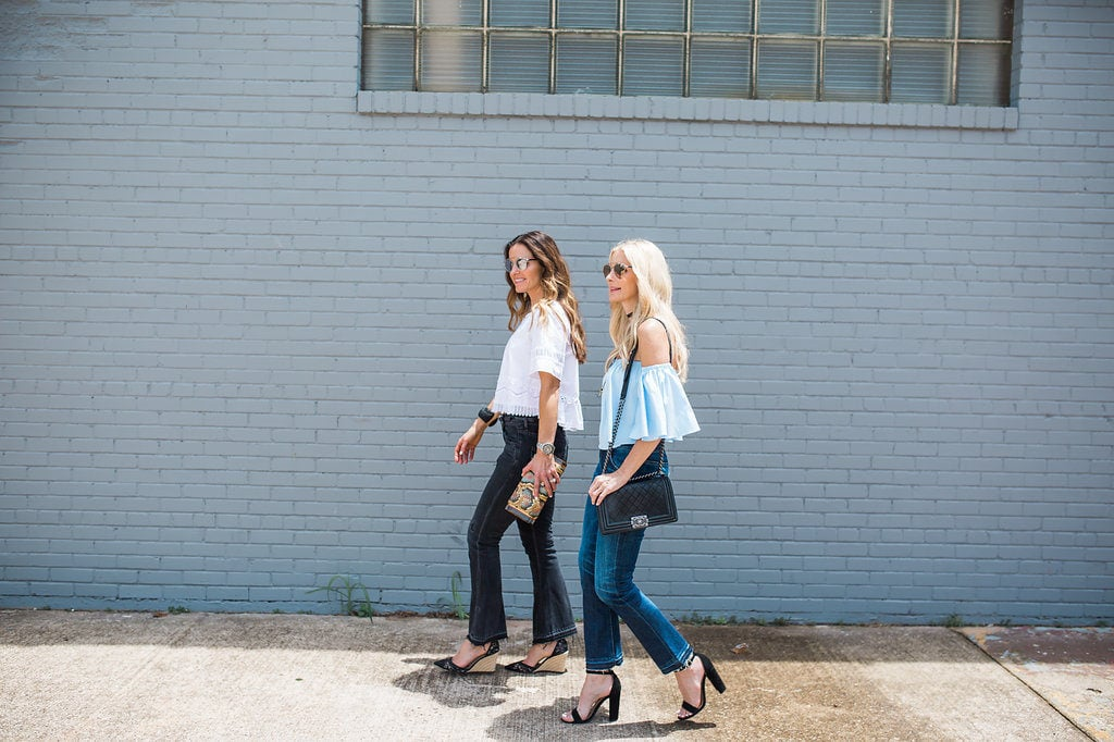 Blue Cropped Top, The Street Edit, Dallas Style Blogger
