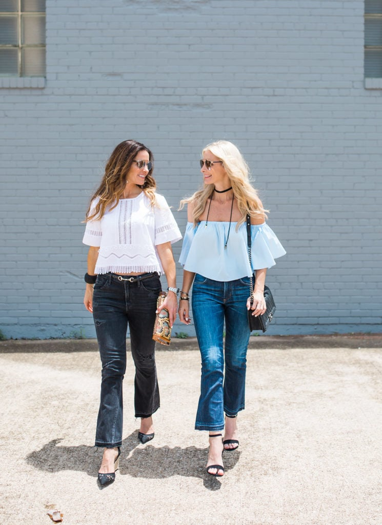 Blue Off the Shoulder Top, The Street Edit, Dallas Style Blogger