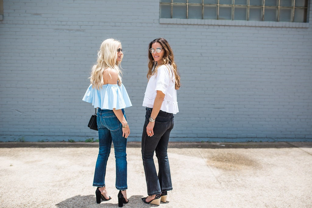 Blue Off the Shoulder Top, The Street Edit, Heather Anderson