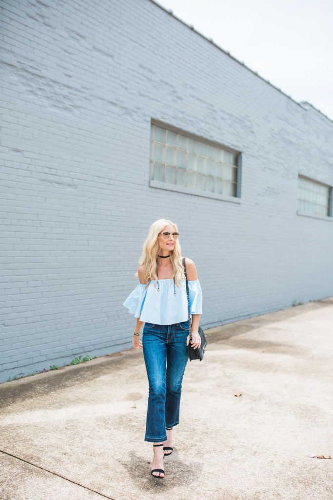 Cropped Top, Cropped Flare Jeans, Heather Anderson, Dallas Fashion Blogger