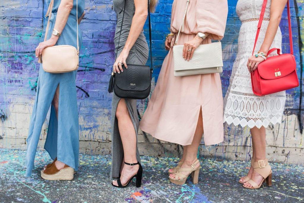 GiGi New York Cross body, Dallas Style Blogger, Pam and Gela Maxi Dress