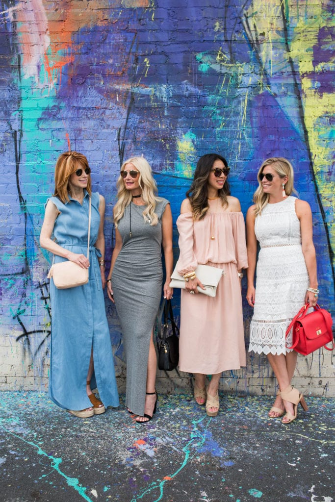 GiGi New York Cross body, Chic at Every Age, Pam and Gela Maxi Dress