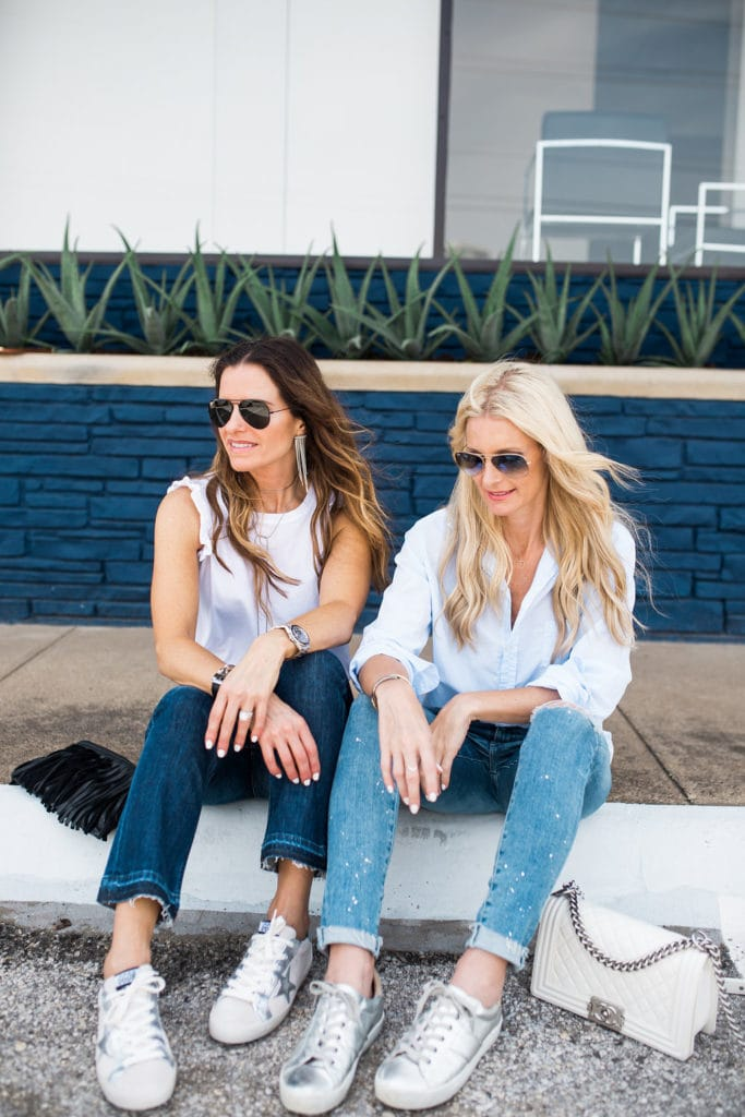 Joie Silver Sneakers, The Street Edit, Dallas Style Blogger