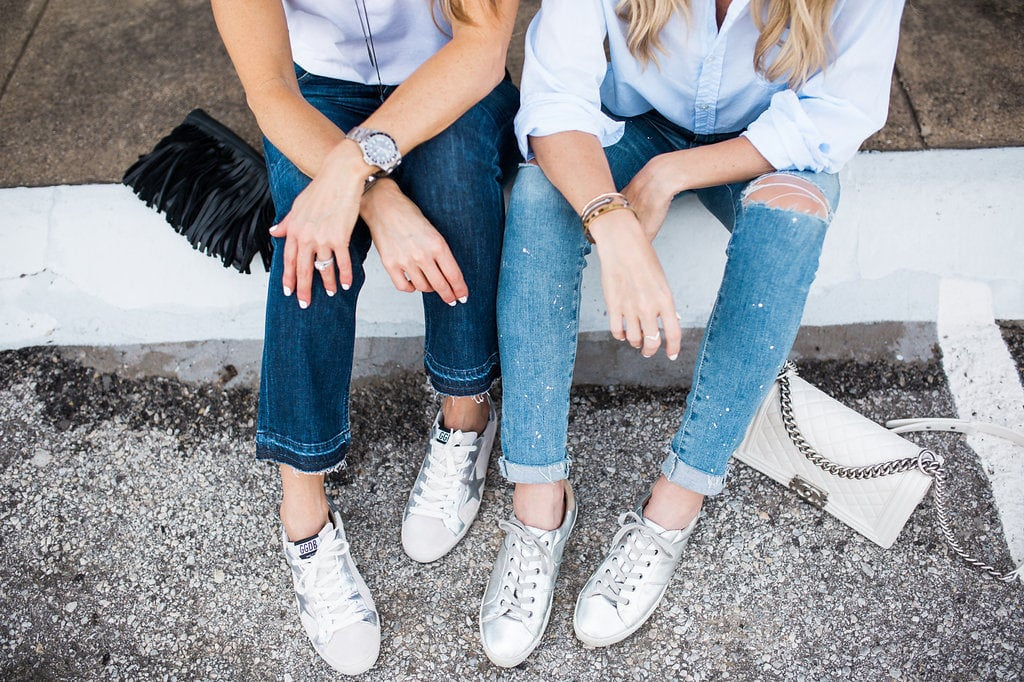 Joie Sneakers, Dallas Style Blogger, AG ripped jeans
