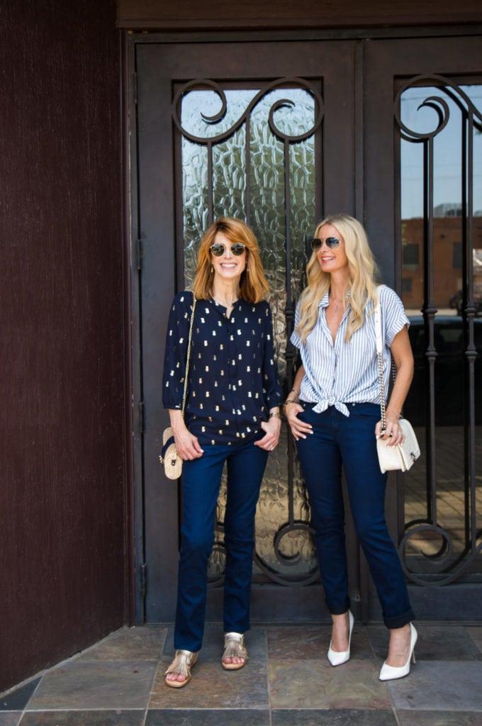 Madewell Striped Shirt, Dallas Fashion Blogger, Heather Anderson